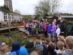 Aldbourne rain garden opening event